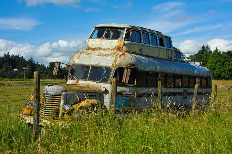 Photo Rusty Buses by Crystal Lynn Hoeveler on 500px