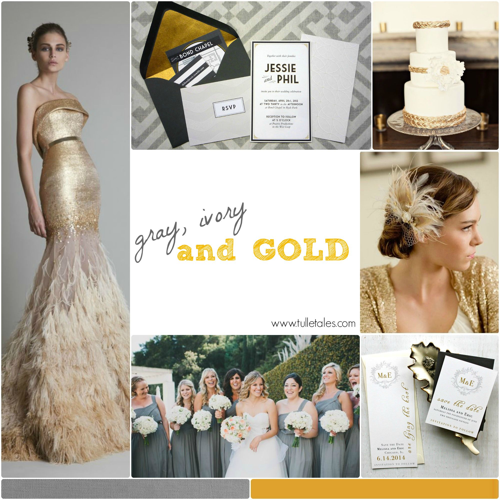 Gray, Ivory and Gold Wedding | Wedding Stuff! | Pinterest | Ivory ...