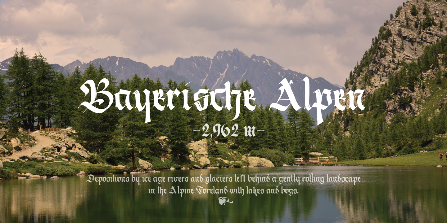 Berliner Fraktur font Screenshots