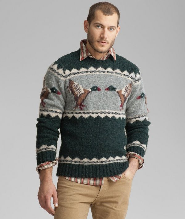 L.L. Bean Signature Brushed Lambswool Fair Isle Sweater | gift ...