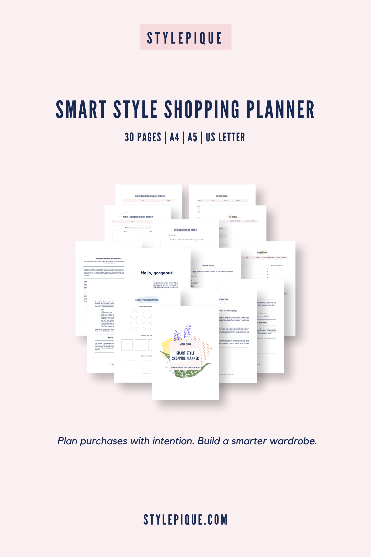 Smart Style Printable Shopping Planner Worksheets