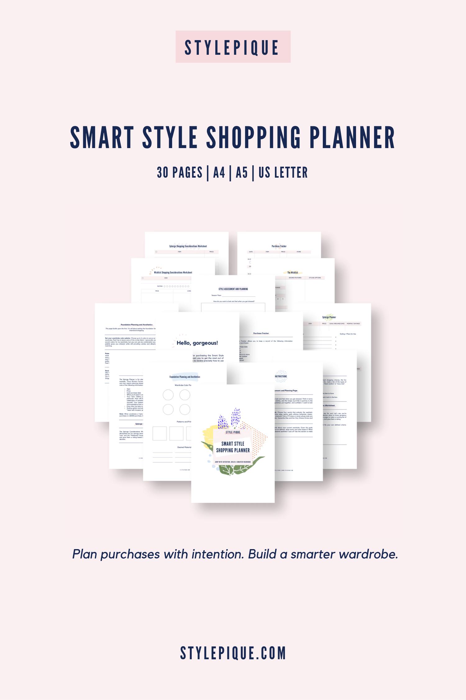 Smart Style Printable Shopping Planner Worksheets