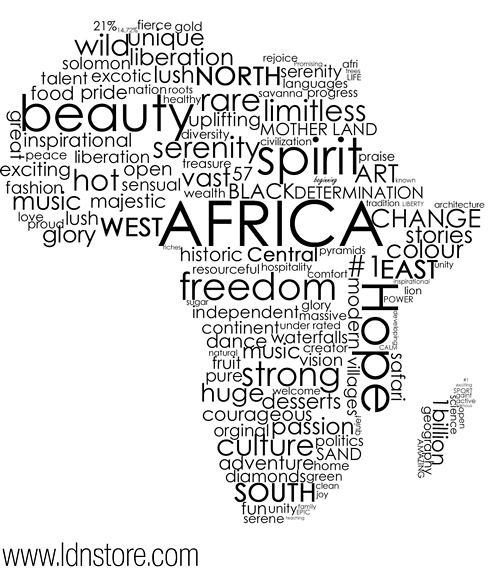 Tattoo Quotes Durban: L-d-n: Africa Typography. Dope…..need This On My Wall