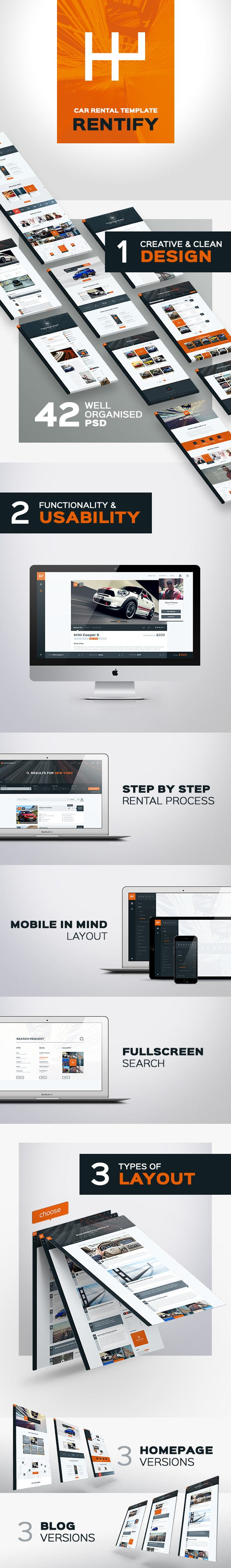 Rentify - Car Rental & Booking PSD Template (Retail) Nulled - http ...
