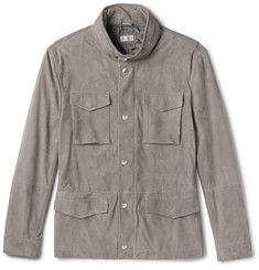 Brunello Cucinelli - Slim-Fit Corduroy-Effect Suede Field Jacket