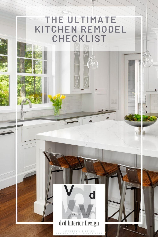 Kitchen Remodel Project Guide Downloadable Checklist Dvd Interior Design Kitchen Remodel Checklist Kitchen Remodel Kitchen Design