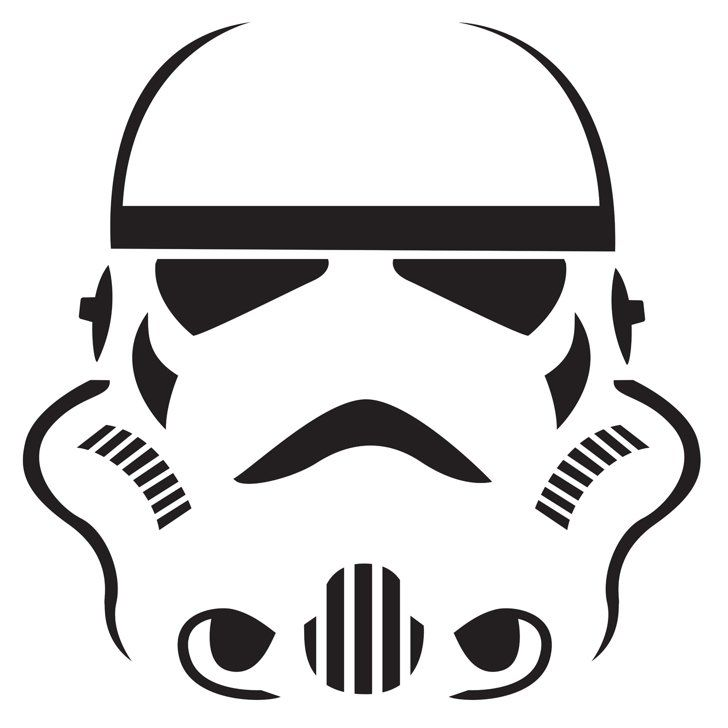 photograph about Stormtrooper Stencil Printable referred to as Stormtrooper All Elements Geeky Star wars stencil, Star