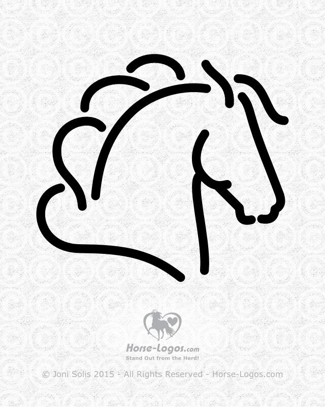 Horse head graphic of a horse with his head up and ears back -- alert, proud, with billowing mane and forelock. This equine logo maybe put on my Horse-Logos.com site soon for sale. Feedback is welcome.