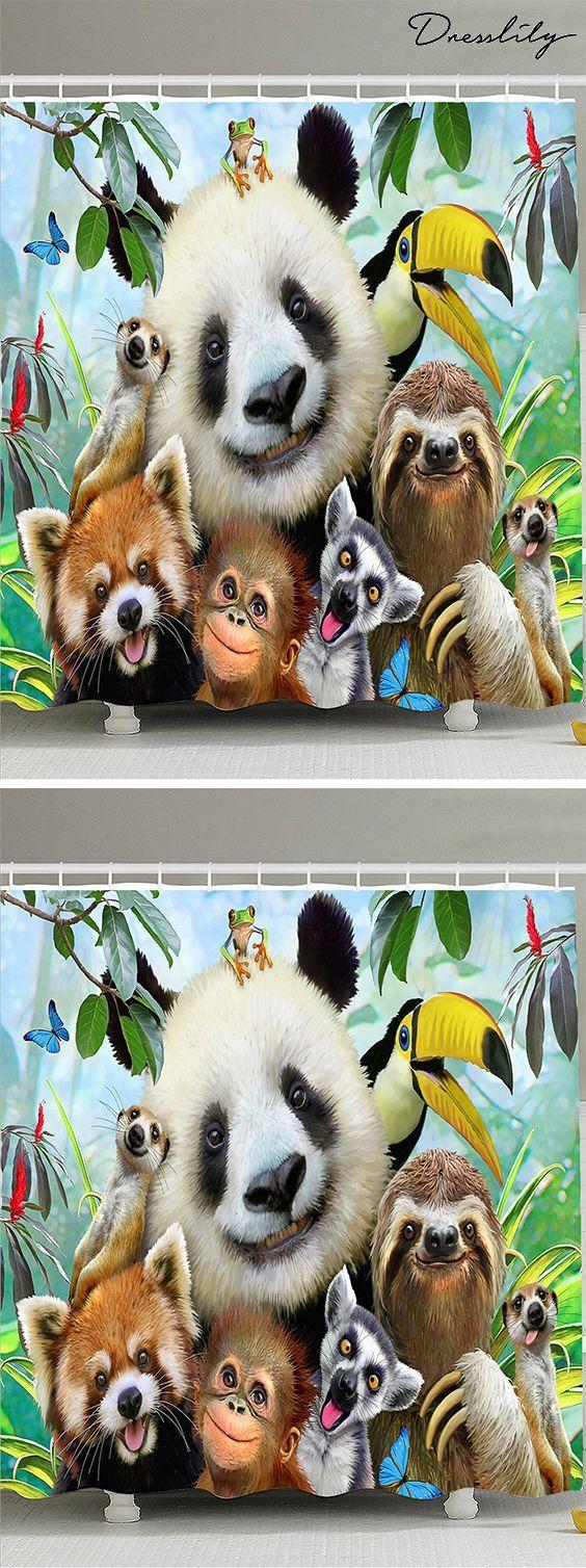 Waterproof Fabric Animal Shower Curtain