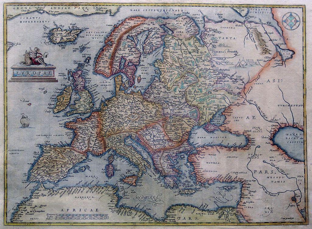 Abraham Ortelius Map Of Europe   Early Modern Europe   Wikipedia, The Free  Encyclopedia