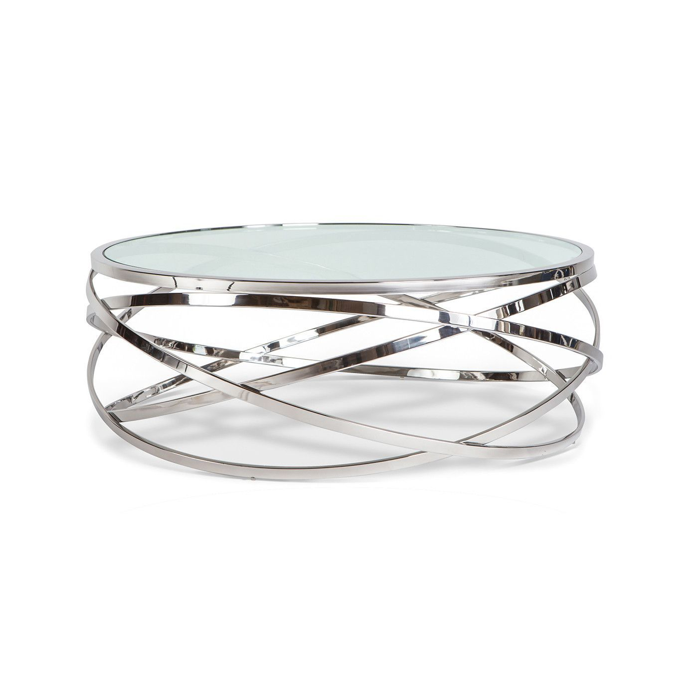 Spark Round Coffee Table Polished Stainless Steel Round Glass Coffee Table Modern Glass Coffee Table Coffee Table Vintage [ 1400 x 1400 Pixel ]