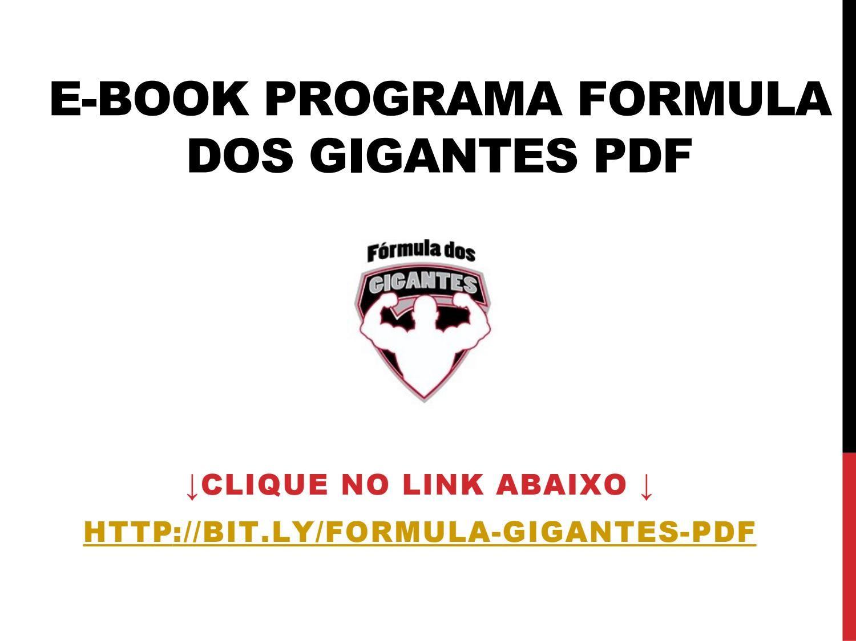 Formula Dos Gigantes Pdf Download Gratis Com Imagens Download