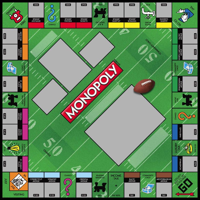 sports football monopoly games custom personalized http