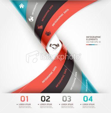Modern spiral infographics options banner template. Royalty Free Stock Vector Art Illustration