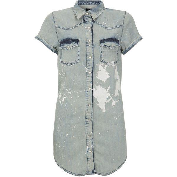 short sleeve vintage western shirt ($23) ❤ liked on Polyvore