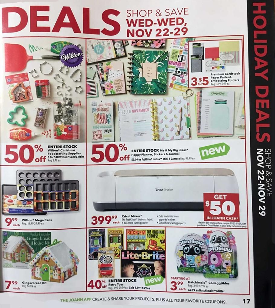Joann Black Friday 2017 Ads And Deals Get The Best Joann Black Friday Deals 2017 To Save On Everything You Need This Year Joann Fabric Joanns Fabric And Crafts