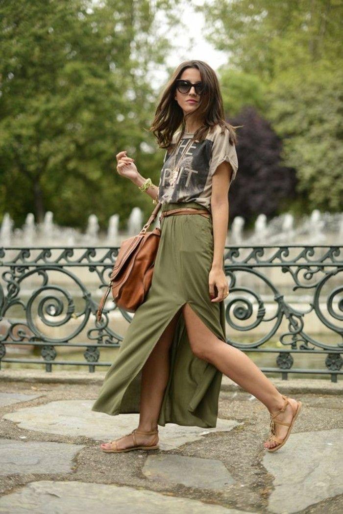 La jupe longue fendue les looks à adopter!