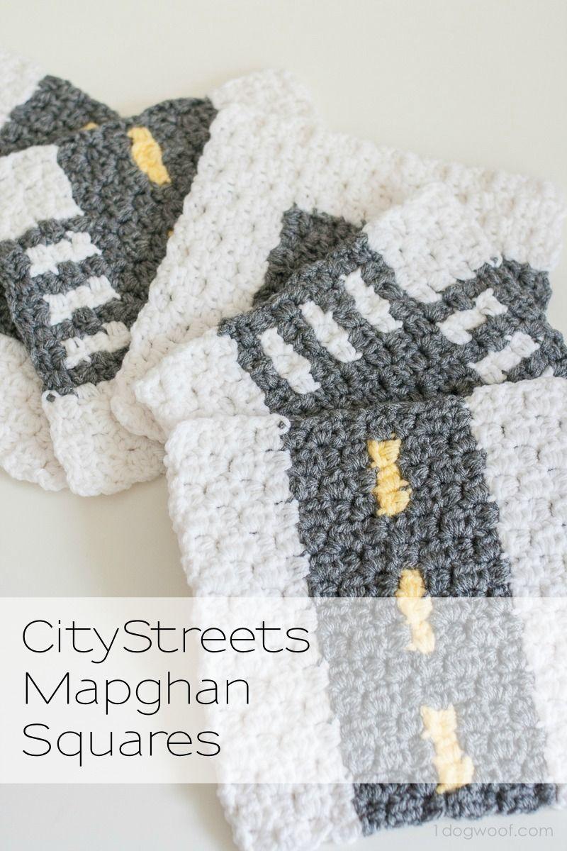 CityStreets Mapghan Squares Collection | Manta, Juguetes y Ganchillo
