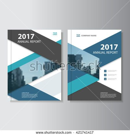 Blue Black Vector Annual Report Leaflet Brochure Flyer Template