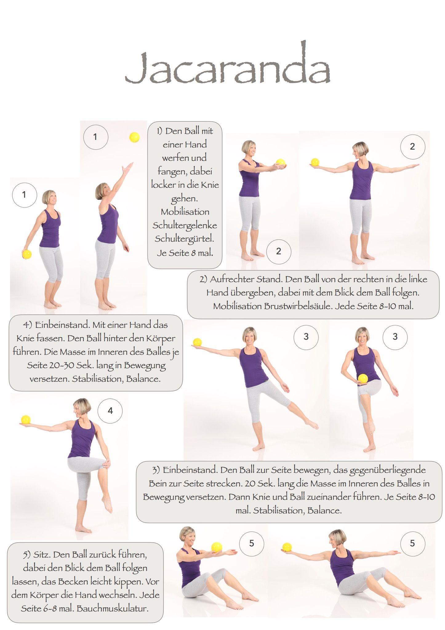 Jacaranda Ball, Stabilisation, Koordination☀ | Fitness | Pinterest