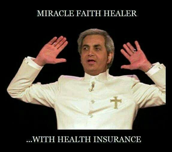 Miracle faith healer with health insurance  | FUNNY / PARTY