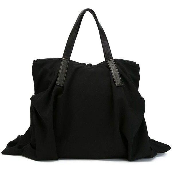 Yohji Yamamoto Draped Tote (6 760 SEK) ❤ liked on Polyvore featuring bags… 865f82aef21ce