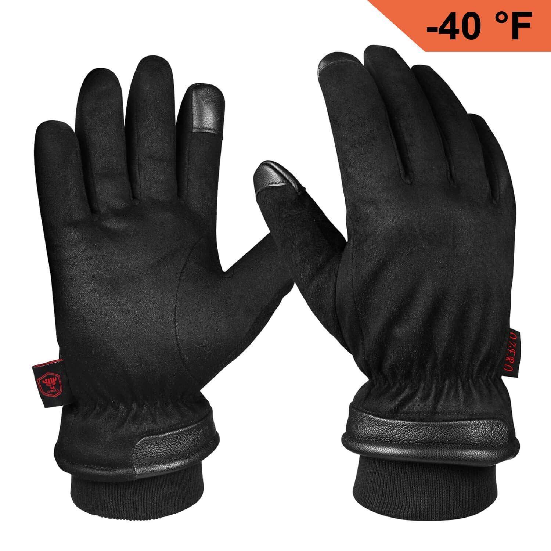 Fashion Brand Winter Men Outdoor Sport Leisure Keep Warm Fleece Windproof Gloves