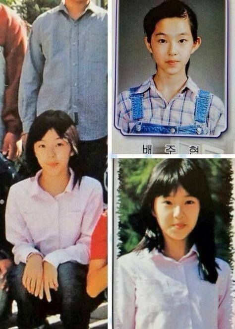 10 Rare Photos Of Red Velvet Members Childhoods Beludru Merah Selebritas Teman Baik