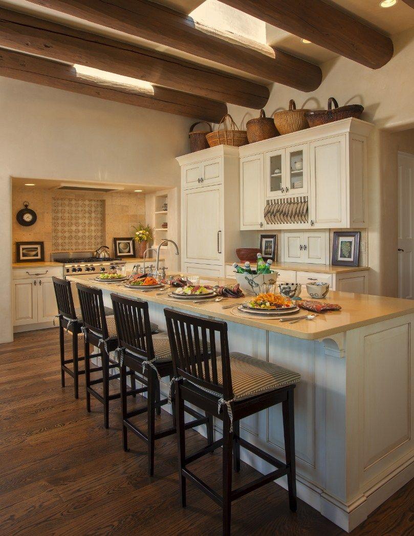 Remodelaholic Inspiration File East Coast Meets Santa Fe Modern Southwest Style In 2020 Southwestern Decorating Adobe House Kitchen Decor
