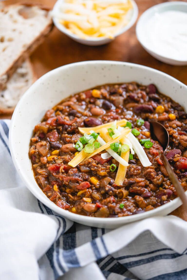 Vegetarian Chili (All of Our Best Secrets!) -- A Couple Cooks