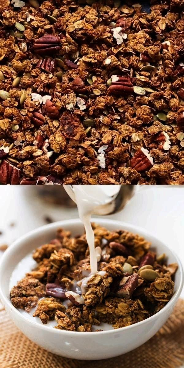 Quinoa Granola These healthy soft pumpkin cookies with an addict... -Healthy Pumpkin Quinoa Granola