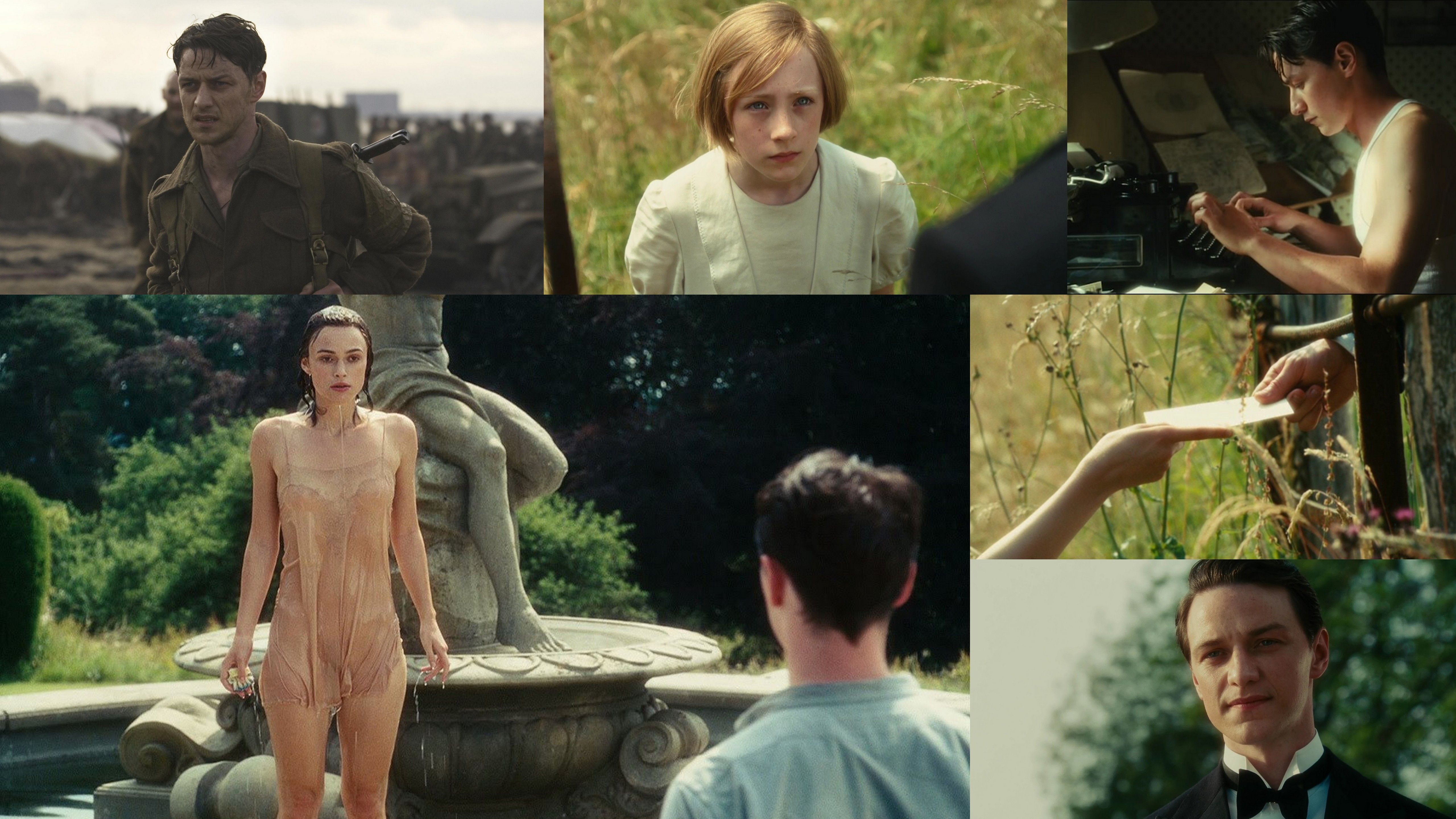 Atonement, starring Keira Knightly, James McAvoy and Saoirse Ronan. 2007