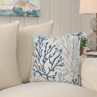 Highland Dunes Benat Coral Isle Throw Pillow In 2021 Throw Pillows Pillows Decor