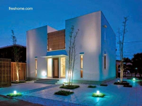 iluminaci n exterior de una casa residencial casas