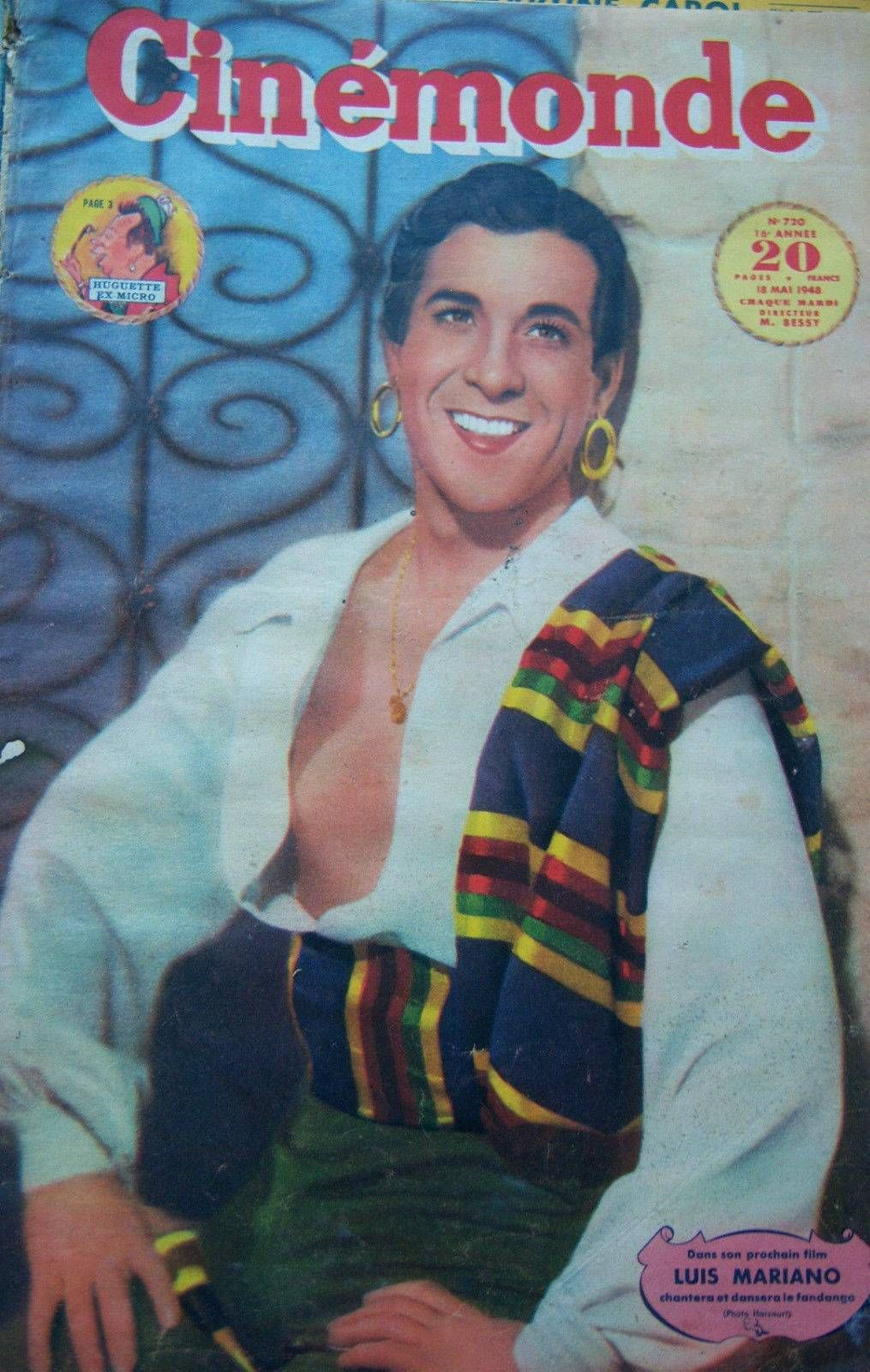 Cinemonde, May 1948. (Luis Mariano in Fandango)