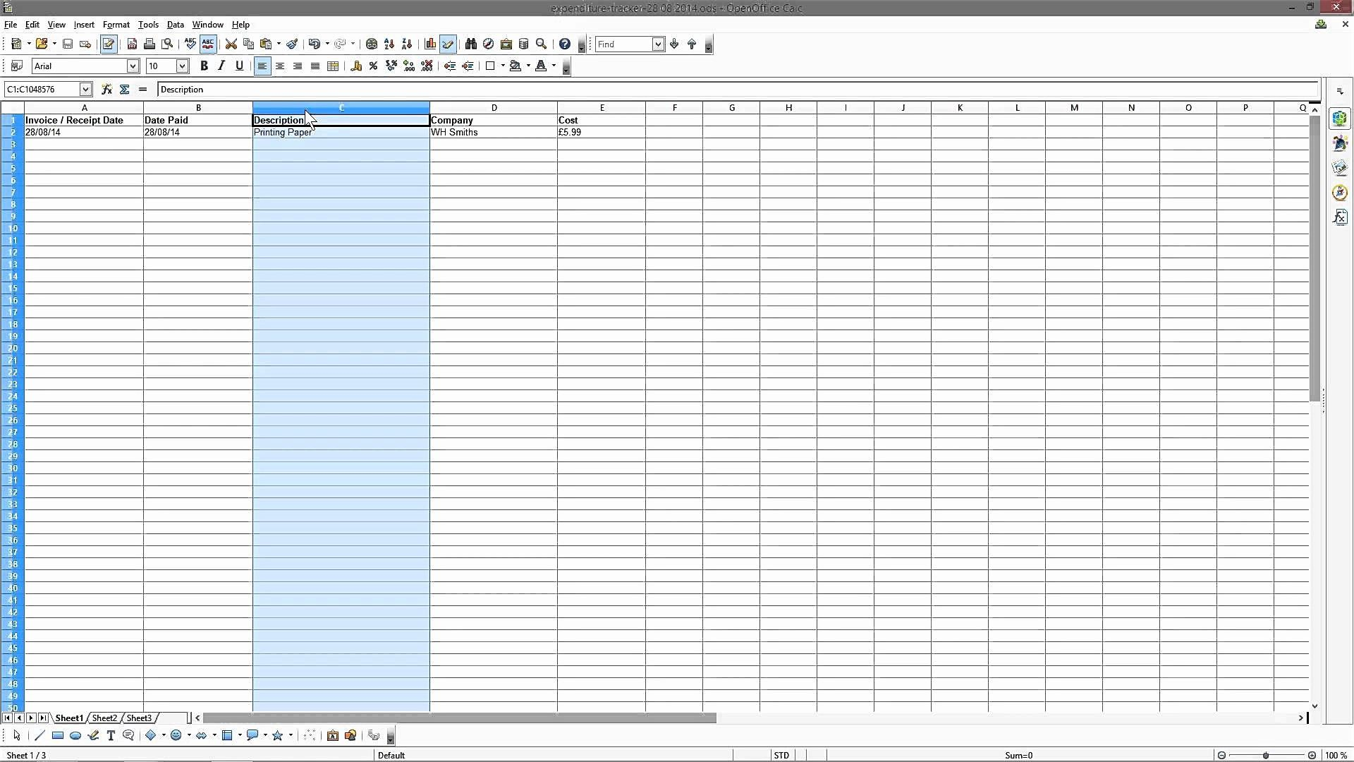 New Business Expense Sheet | Budget spreadsheet, Budget ...