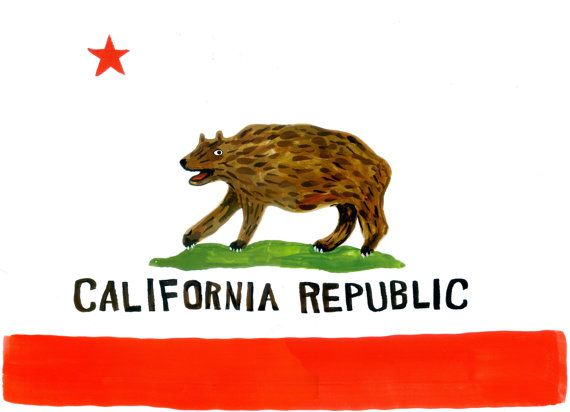 Hey I Found This Really Awesome Etsy Listing At 165671208 California State Flag Print