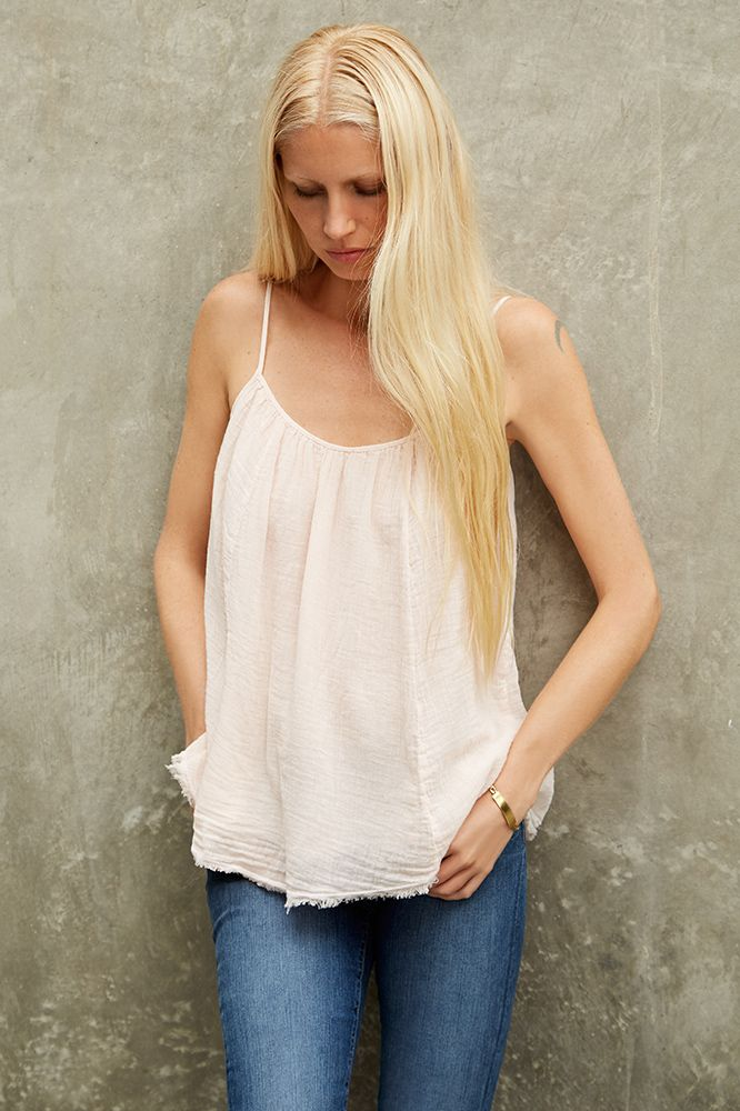 DAISY COTTON GAUZE TANK, Kirsty Hume x Velvet by Graham and Spencer.