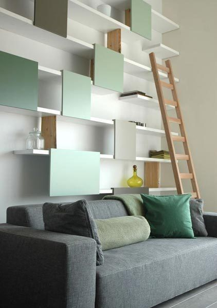 #Walls of #Shelving by Ontwerpduo // Stylisches #Wandregal #System