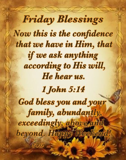 Friday Blessings Quotes Morning Blessings Blessed Friday