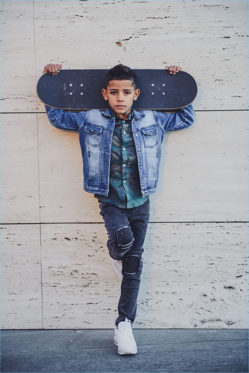 42b6d2217a1 Cristiano Ronaldo Jr. stars in CR7 Denim s spring-summer 2018 campaign.