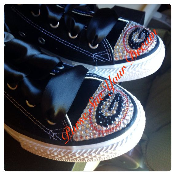 005b19da403f Georgia Bulldogs Themed Converse Shoes - Custom Vans - Swarovski ...