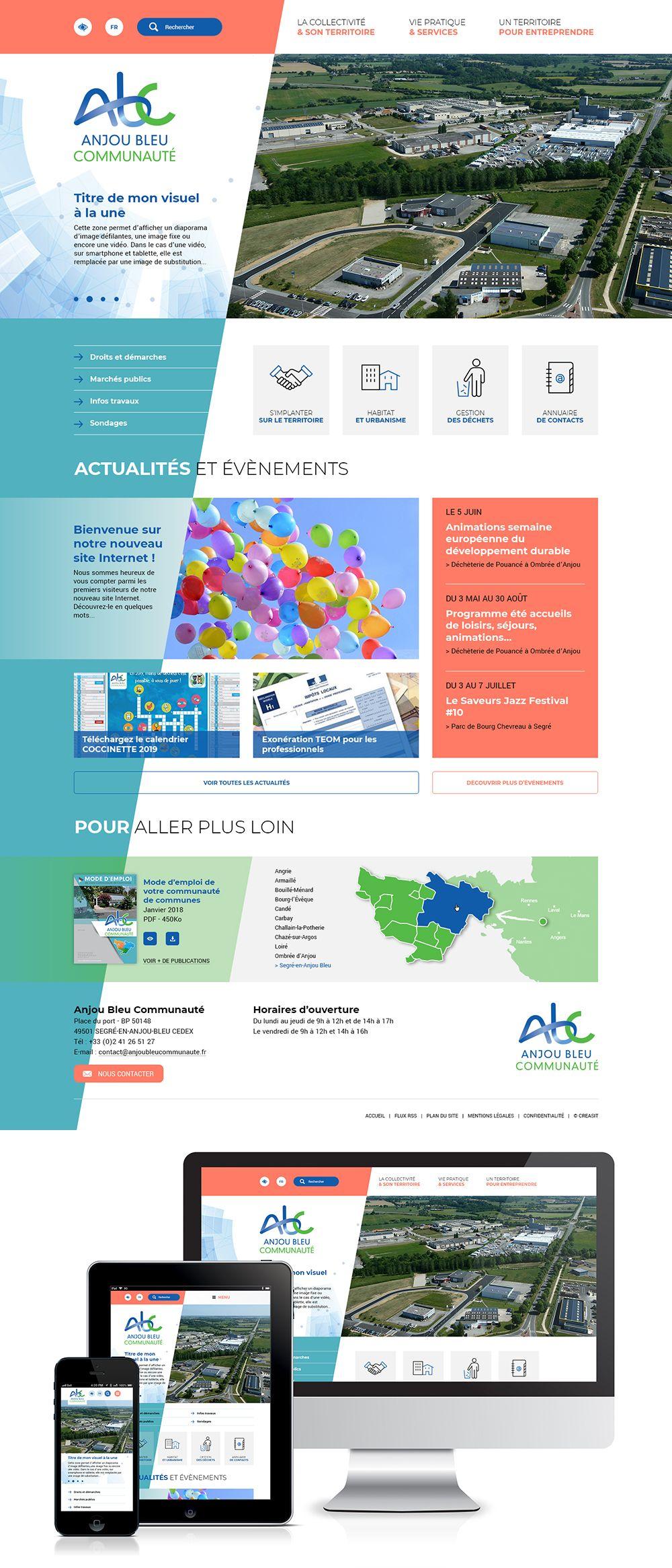 Createur De Site Internet création du site web d'anjou bleu communauté (49) : #web