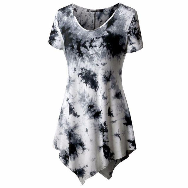 b8701a571bcff Plus Size 5XL Summer Womens Tops and Blouses Tunic Heart Print Long Tee  Shirt Short Sleeve Top Women Clothing Blusa Feminina