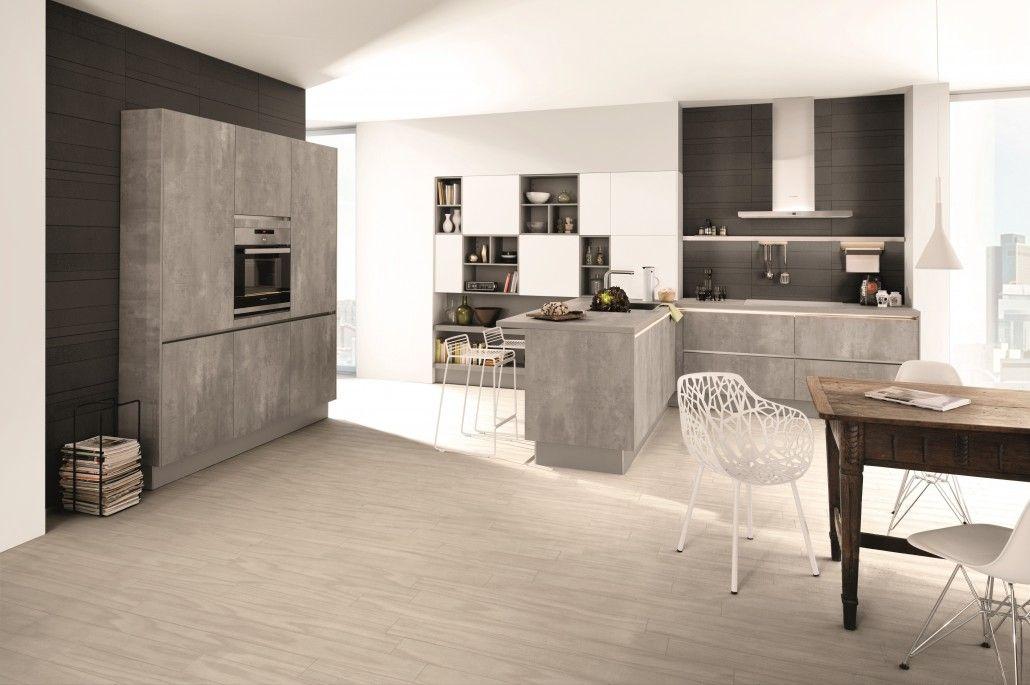 Kitchen trends 2016 New kitchen doors include the richly textured - küchenzeile ohne hängeschränke
