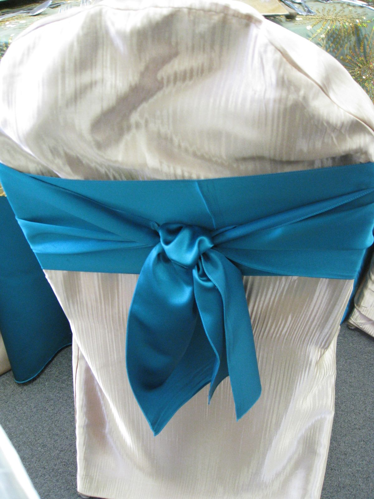 Double middle back finished knot party rentals taylor