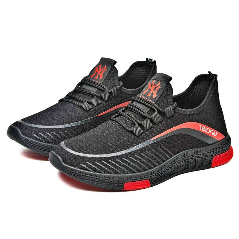 Fashion Sneakers Lightweight Men Casual Shoes Breathable Male Footwear Lace Up Walking Shoe Mens Designe Mens Designer Shoes Sneakers Fashion Mens Casual Shoes