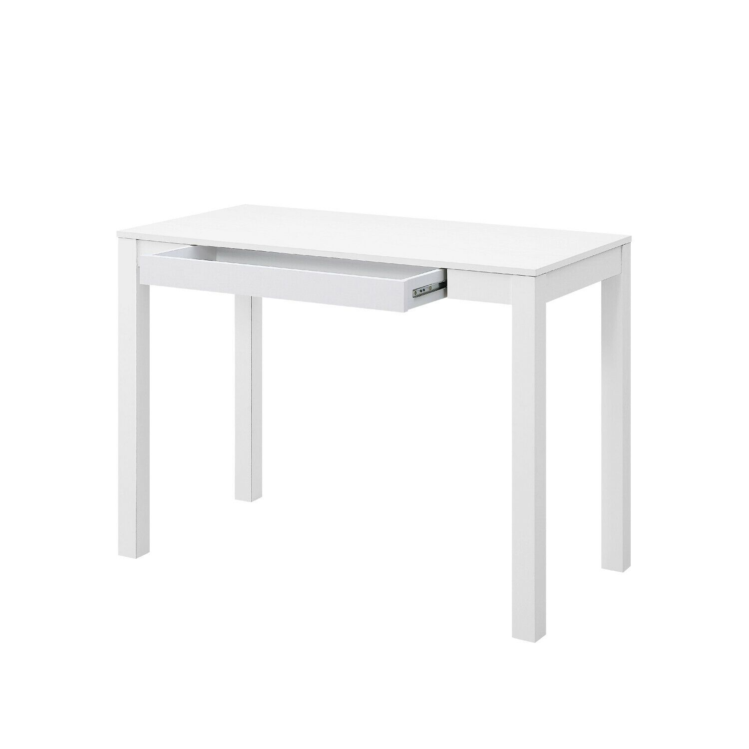 Details About White Parsons Writing Desk With Large Storage Drawer