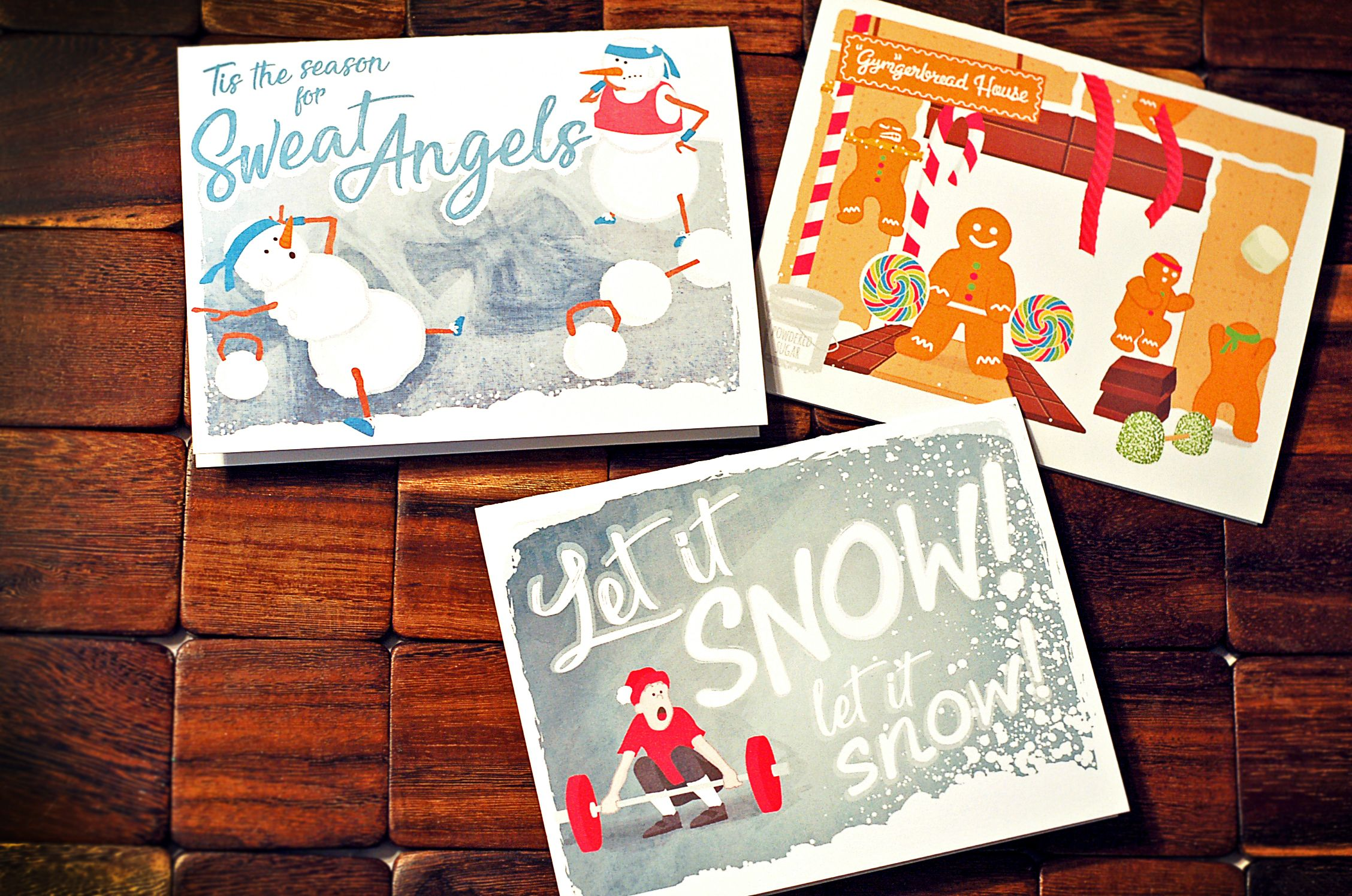 Fitness christmas holiday cards for coaches husband wife