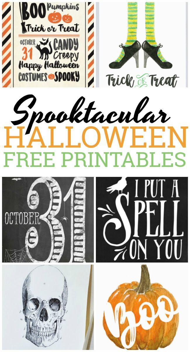 halloween free printables awesome spooktacular designs! holidaycelebrate the day of ghosts and goblins with these spooktacular halloween free printables with witches, skulls, pumpkins and more
